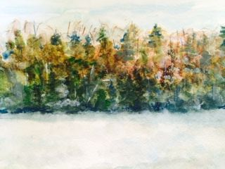 lake menominee painting